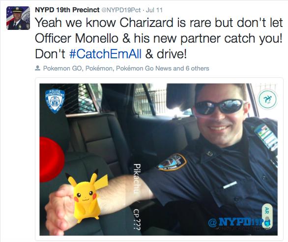 NYPD19分署はTWITTERで注意を呼びかけ